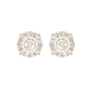 Diamond Stud Earrings in Round Halo (.25 carats)