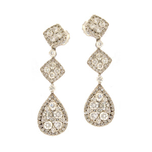 Geometric Drop Diamond Earrings