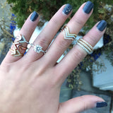 Double Arrow Ring (three colors available)