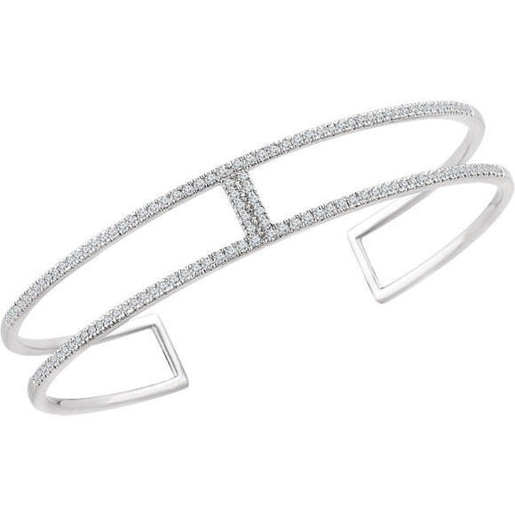 Geometric Rectangle Cuff Bracelet