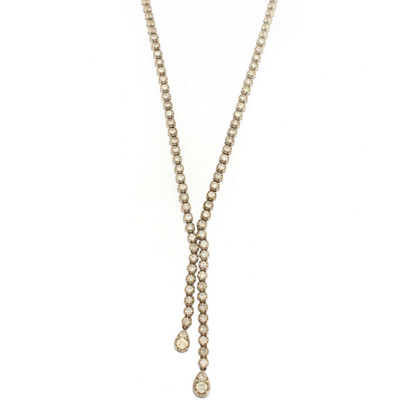 Short Lariat Tennis Necklace (2.35 ctw)