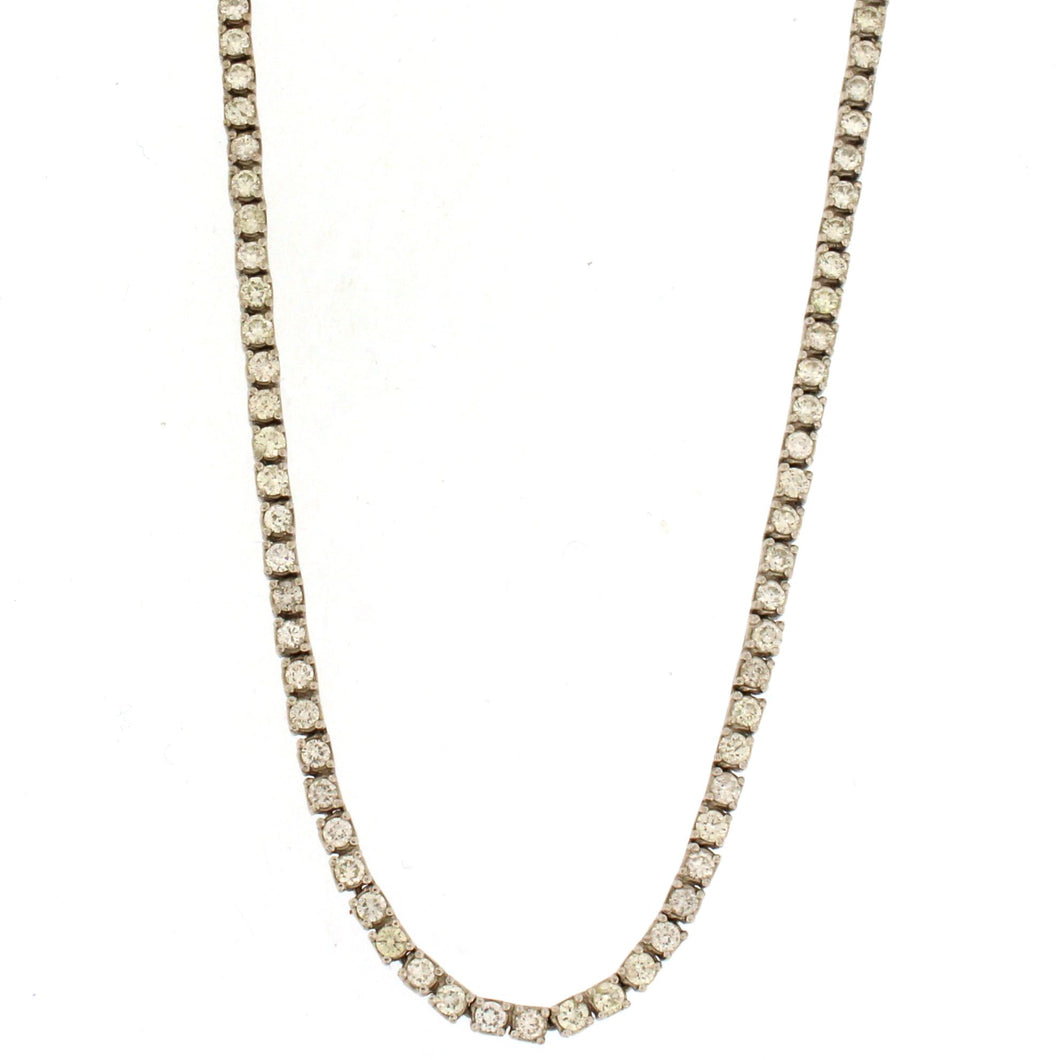 Square-Style Tennis Necklace (5.3 ctw)