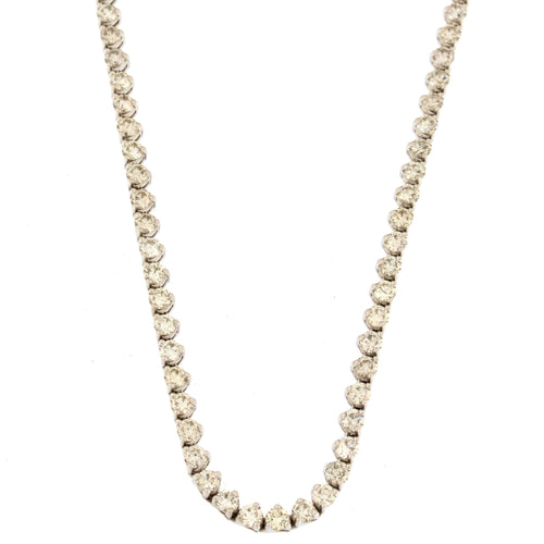 Inverted Tennis Necklace (10 ctw)
