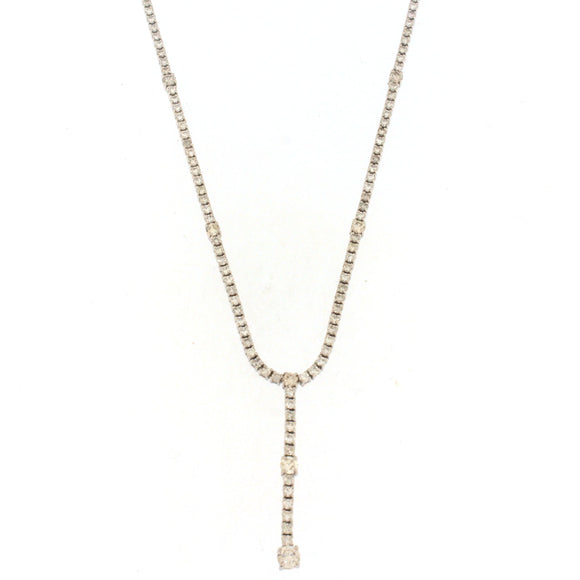 Lariat Tennis Necklace