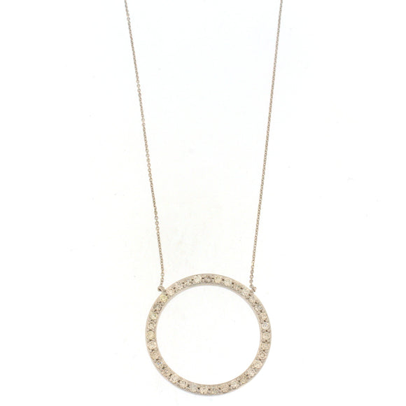 Open Circle Diamond Necklace (1.81 CTW)