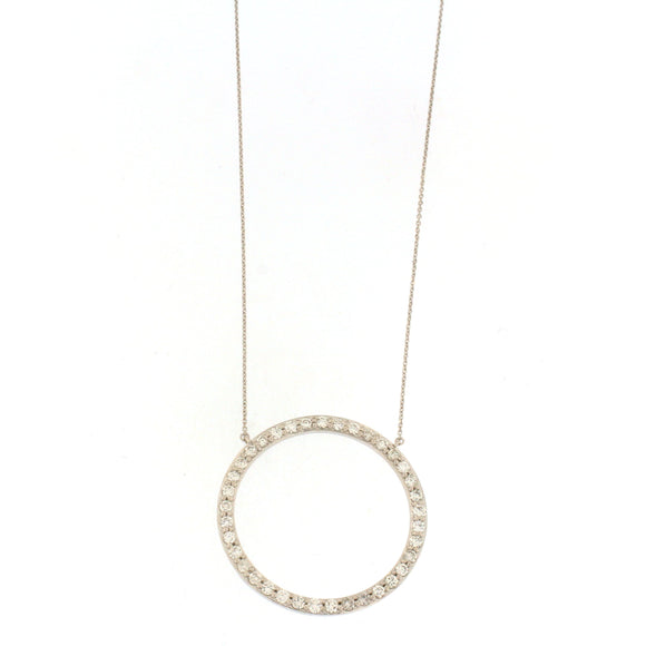 Open Circle Diamond Necklace (1 CTW)
