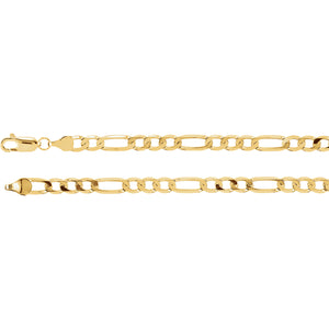 14 Karat Yellow Gold Figaro Chain 5mm
