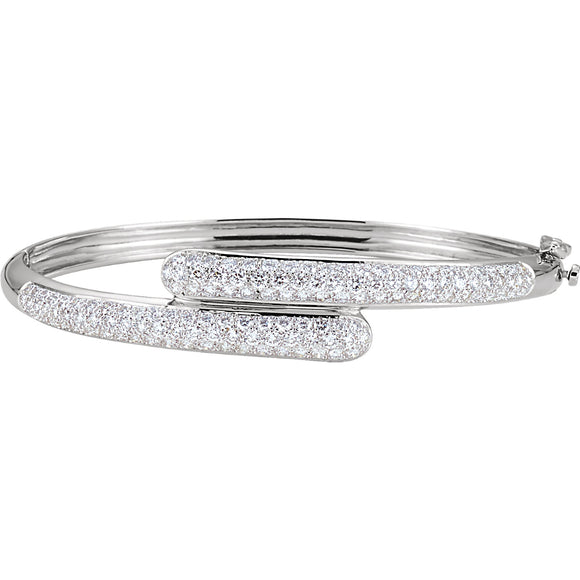 Overlapping Diamond Bangle Bracelet