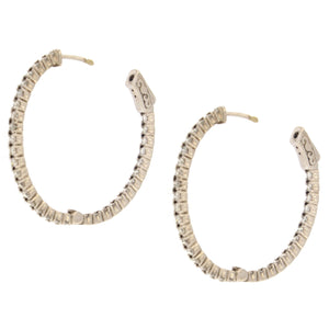 Inside Out Hoop Earrings (2 ctw)