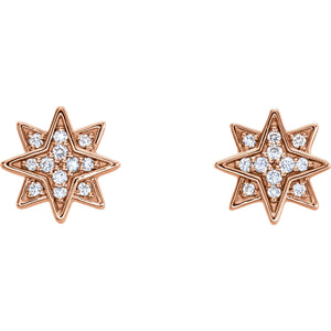 Layered Star Stud Earrings