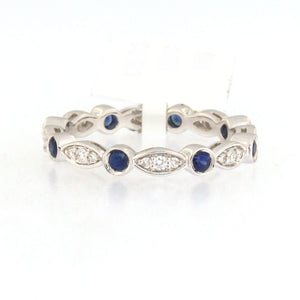 Marquise Sapphire Dot Ring
