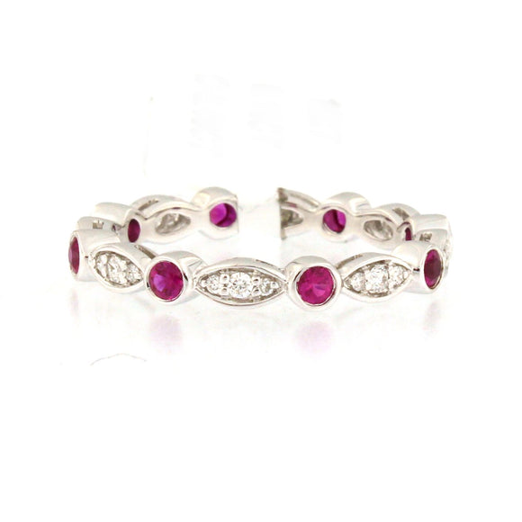 Marquise Ruby Dot Ring