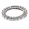 2.31CTW Diamond Eternity Anniversary Stackable Wedding Band Ring 14k White Gold