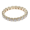 2.00CTW Diamond Eternity Anniversary Stackable Wedding Ring 14k Yellow Gold