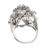 1.50CTW Diamond Floral Cluster Ring 14k White Gold Vintage 1940s Art Deco Estate