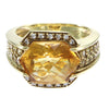 Sonia Bitton Citrine Diamond Yellow Sapphire Cocktail Ring 18k Yellow Gold