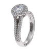 Tacori Split Shank Diamond Halo Split Shank Engagement Ring Setting 18k White Gold $7530