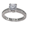 1.00CT Round Diamond Tacori Classic Crescent Engagement Ring Setting Platinum