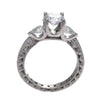 1.03CT Round Pear Diamond Tacori Classic Crescent Engagement Ring Setting Platinum $7940