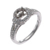 Verragio Couture Diamond Pave Engagement Ring Setting 18k White Gold $3800