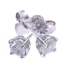 0.60CTW Round Diamond Stud Earrings 14k White Gold Butterfly Back G-H/SI1-SI2