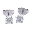 0.58CTW Round Diamond Stud Earrings 14k White Gold Butterfly Back G-H/SI1-SI2