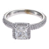 2.32CTW GIA Cushion Cut Halo Diamond Engagement Ring 14k White Gold G/VS2
