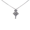 0.30CTW Princess Diamond Pave Drop Pendant Necklace 14k White Gold Vintage Art Deco
