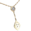 Diamond Cushion Pendant Necklace 14k Yellow Gold Anchor Chain Link 0.50CTW