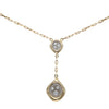 0.50CTW Diamond Cushion Pendant Necklace 14k Yellow Gold Anchor Chain Link