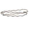 1.70CTW Diamond Moon Crescent Link Choker Necklace 14k White Gold Vintage Estate