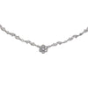 1.05CTW Diamond Flower Pendant Station Necklace 18k White Gold Fancy Ball Link Chain