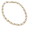 Fancy Twisted Anchor Chain Link Bracelet Solid 14k Yellow Gold 4mm 7inches 5.9g