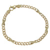 Mens Fancy Cuban Chain Link Bracelet Solid 18k Yellow Gold 5mm 8inches 12.2g