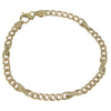 Mens Fancy Cuban Chain Link Bracelet Solid 14k Yellow Gold 5mm 8inches 12.2g