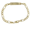 Baby Child Engravable ID Bracelet 14k Yellow Gold Figaro Chain Link 5mm 5.75inches 4g