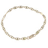 Womens Puffed Anchor Marine Chain Link Bracelet 14k Yellow Gold 4mm 7.5inches