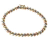 Womens San Marco Link Bracelet Solid 14k Multi Gold 6mm 7inches 9g