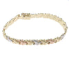 Womens Fancy Panther Chain Link Bracelet 14k White Yellow Rose Gold 7mm 7inches 9.6g