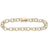 Womens Starter Charm Chain Link Bracelet Solid 14k Yellow Gold 7mm 6.75inches 7g