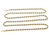 Long Mens Rope Chain Link Necklace 14k Yellow Gold 4mm 30.5inches 14.4g