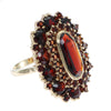 6CTW Large Garnet Cluster Ring Solid 14k Yellow Gold Womens 1890s Antique Victorian