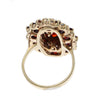 6CTW Large Garnet Cluster Ring Solid 14k Yellow Gold Womens Vintage Estate 7.50