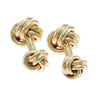 Tiffany & Co. Classic Love Knot Cufflinks Solid 14k Yellow Gold 13mm 20.2g