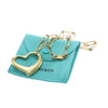 Tiffany & Co. Elsa Peretti Large Open Heart Pendant Chain Necklace 18k Yellow Gold