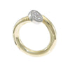Diamond Nail Ring Solid 18k Yellow Gold 0.21ctw H/SI2 US6 12.1g ByPass Band