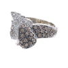 1CTW Champgne Diamond Cluster Ring Solid 14k White Gold Band Womens 7.50