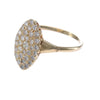 1CTW Diamond Cluster Dinner Ring Solid 14k Yellow Gold Womens Estate 10.5