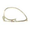 Golf Club Diamond Pearl Twist Curve Bangle Bracelet 18k Yellow Gold 6inch 13.8g