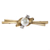 Old European Diamond Pearl Brooch Pin 14k Yellow Gold 1940s Antique Art Deco